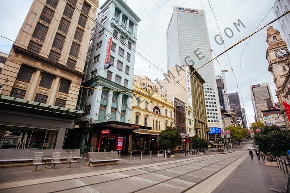 Quiet Melbourne Streets and Landmarks During Coronavirus Pandemic